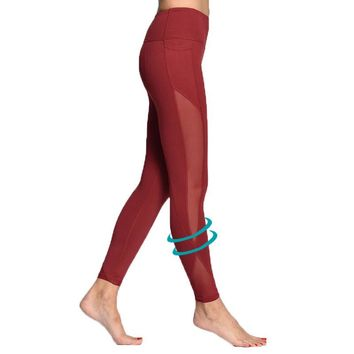 Red Yoga Fitness Tights
