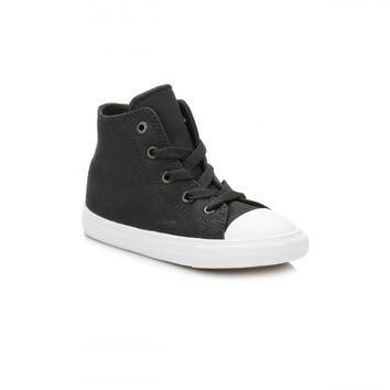 Converse All Star Chuck Taylor II Infant Black/White Hi Top Trainers