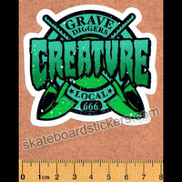 Creature Skateboard Sticker