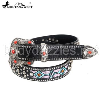 Montana West Western Aztec Hand Beaded Collection Belt