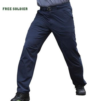 Outdoor sports tactical quick-drying pants male summer slim thin breathable Men's trousers