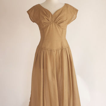 Vintage 50s Sheer Rockabilly Dress