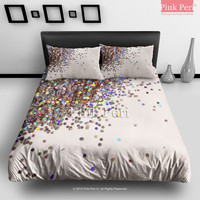 Glitter Bombing Bedding sets Home & Living Wedding Gifts Wedding Idea Twin Full Queen King Quilt Cover Duvet Cover Flat Sheet Pillowcase Pillow Cover 029