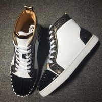 Cl Christian Louboutin Lou Spikes Style #2180 Sneakers Fashion Shoes