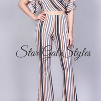 Kyla Striped Two Piece Set