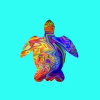 Psychedelic Sea Turtle Stretched Canvas by JT Digital Art  | Society6