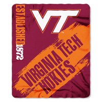 Virginia Tech Hokies NCAA Light Weight Fleece Blanket (Painted Series) (50inx60in)
