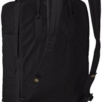 "Fjallraven - Kanken Laptop 17"" Bag, Heritage and Responsibility Since 1960, Black"