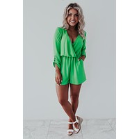 So Lucky Romper: Green