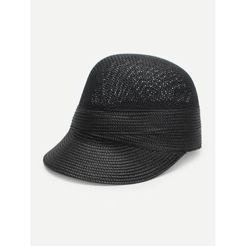 Plain Straw Cap