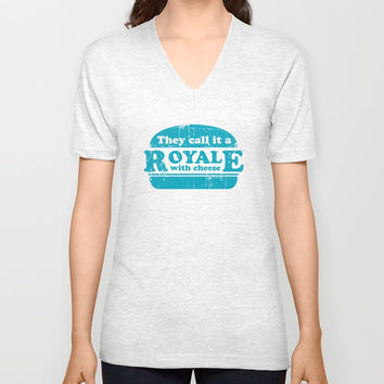 Pulp Fiction - royale with cheese Unisex V-Neck by G-man