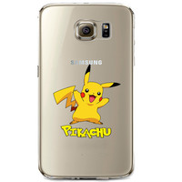 Pokemon Pikachu Jelly Clear Case for Samsung Galaxy S7 Edge