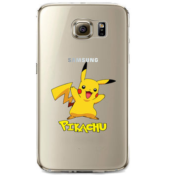 Pokemon Pikachu Jelly Clear Case for Samsung Galaxy S7