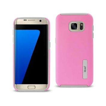 Samsung Galaxy S7 Edge Solid Armor Dual Layer Protective Case In Pink