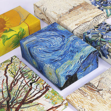 Vincent van Gogh Wrapping Paper; Painting Gift Wrap; Starry Night ; Vincent