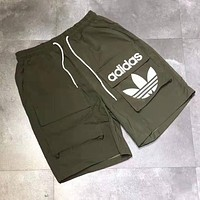 Adidas Summer Fashion Men Women Casual Print Shorts Green