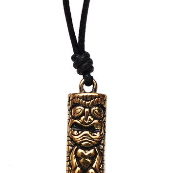 Maori Tiki Man Handmade Brass Necklace Pendant Jewelry