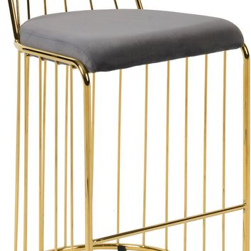 Gio Grey Velvet Counter Stool