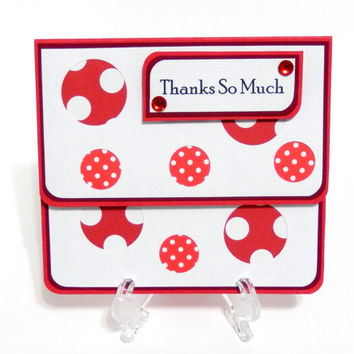 Gift Card Holder, Gift Card Envelope, Gift Card Box, Money Holder-Thanks So Much