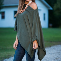 The Erin Poncho, Olive
