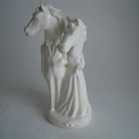 $50.00 Stallion Couple Cake Topper by melabo on Etsy