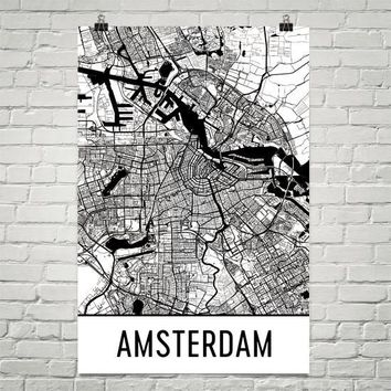 Amsterdam Street Map Poster