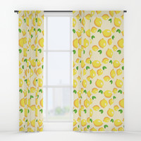 Lemon Pattern Window Curtains by Smyrna