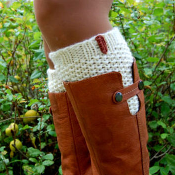 Knitted Boot Cuffs, Hand knit Boot Cuffs, Boot Soc