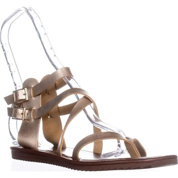 Seven Dials Sync Ankle Strap Sandals, Gold Metallic, 7.5 US