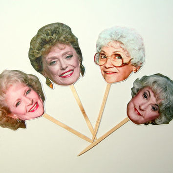 Golden Girls Cupcake Toppers Set of 12