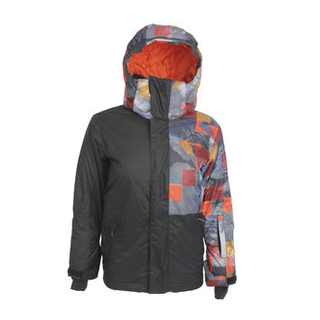 Quiksilver Boy's 10k Snowboarding Jacket Multi-Color Size 10