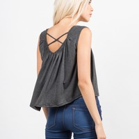 Cross Back Flowy Top