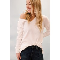 Odessa Brushed Thermal Top, Ivory