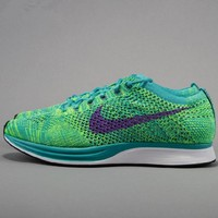 NIKE Net surface breathable sneaker soft-soled running casual shoes Green purple hook