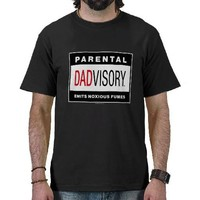 "Dadvisory ""Fumes"" for Dark Apparel Tshirt from Zazzle.com"