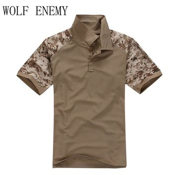 Summer Tactical Camouflage Hunting Combat Shirt Men Army Multicam Military Uniform Short T Shirt SWAT Paintball Clothes