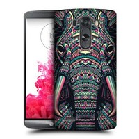 Head Case Designs Elephant Aztec Animal Faces Protective Snap-on Hard Back Case Cover for LG G3 D855 D850