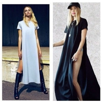 new Womens Celebrity maxi casual shirt dress, Ladies patchwork sexy party bandage dress, swim wear long dress