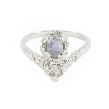 Salacia Moonstone Ring - Sterling Silver