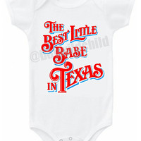 Best Little Babe in Texas baby bodysuit or t shirt tee top Country Western Texas Pride Southern Outfit girls boys infant Onesuit shirt