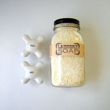 Unscented Laundry Soap / Eco Friendly Home / in a Farmhouse Mason Jar