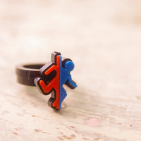 Portal Acrylic Ring Plastic for couple and gamer by Nastalgame