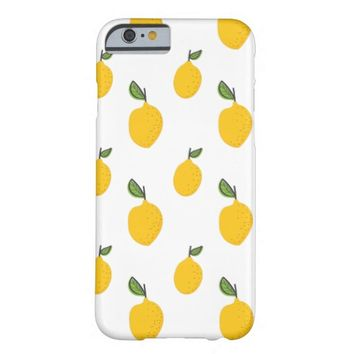 Cute Hand Drawn Lemon Pattern Barely There iPhone 6 Case