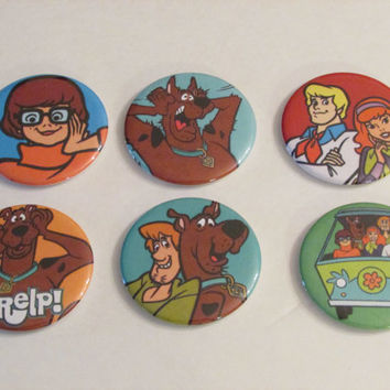 Scooby Doo Magnet Set of 6 - Birthday Party Favors - Pinata Prizes - Scooby Doo Birthday - Shaggy - Velma - Freddy - Daphne