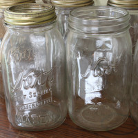 Vintage Kerr Mason Canning Jars from the 30s, 40s 50s and 60s