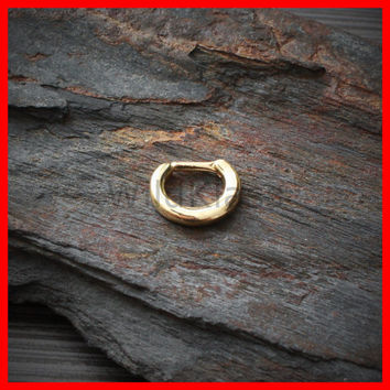 Gold Ring Septum Ring Smooth Basic Septum Clicker