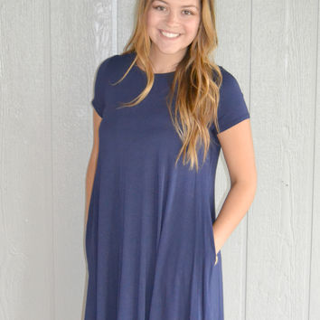 Weekend Fun Dress: Navy