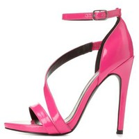 Qupid Asymmetric Strap Stiletto Sandals by Charlotte Russe