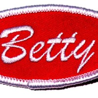 Betty Name Tag Patch
