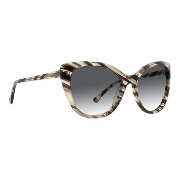 Trina Turk - Marettimo 56mm Black Grey Horn Sunglasses / Smoke Gradient Lenses